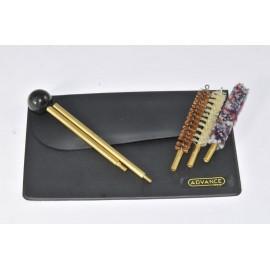 Black Wallet Cleaning kit for pistol or revolver
