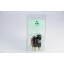 Three shotgun brushes packed on blister card