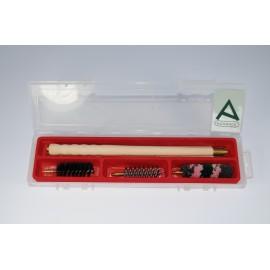 Kit pulizia per fucile con bacchettone in legno 3 pezzi